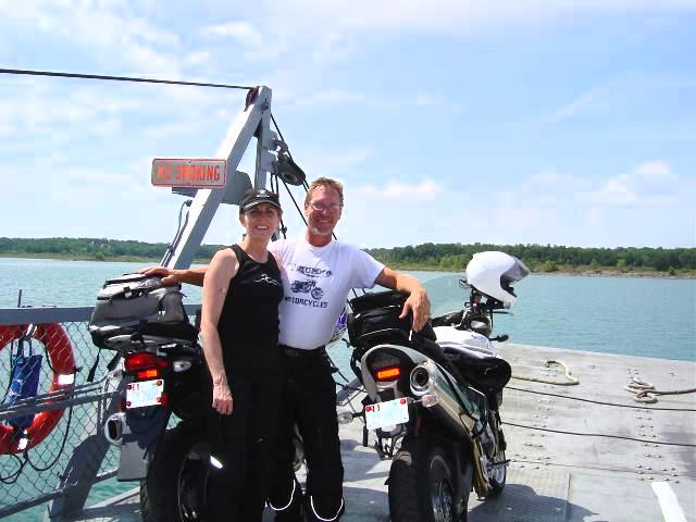 Photo - Wayne and wife Jackei on Peel's Ferry, AR.