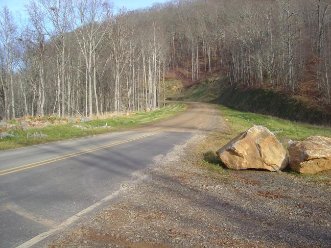Photo - Where the pavement ends and the road beyond