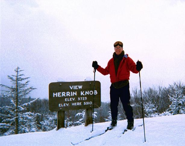 Photo - Wayne skis the Blue Ridge Parkway